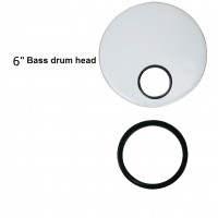 "Firefeel D084N Hole Black 6"" Bass Drum"